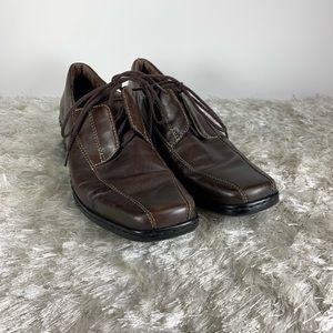 Josef Seibel Dark Brown Lace Up Loafers Sz 41